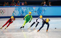 Ladies m heats short track heats sochi russia february kexin fan chn no at at the sochi olympic games Royalty Free Stock Image