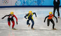 Ladies m heats short track heats sochi russia february safiya vlasova ukr no at at the sochi olympic games Stock Images