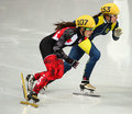 Ladies m heats short track heats sochi russia february safiya vlasova ukr no at at the sochi olympic games Royalty Free Stock Photo