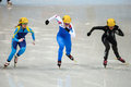 Ladies m heats short track heats sochi russia february seung hi park kor no at at the sochi olympic games Royalty Free Stock Image