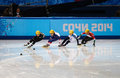 Ladies m heats short track heats sochi russia february sofia prosvirnova rus no at at the sochi olympic games Royalty Free Stock Image