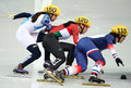 Ladies m heats short track heats sochi russia february sofia prosvirnova rus no at at the sochi olympic games Royalty Free Stock Photos