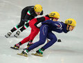 Ladies m heats short track heats sochi russia february suk hee shim kor no at at the sochi olympic games Stock Image