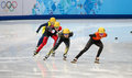 Ladies m heats short track heats sochi russia february yara van kerkhof ned no at at the sochi olympic games Stock Images