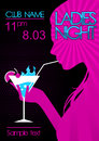 Ladies night banner Royalty Free Stock Photo
