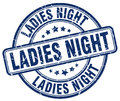 Ladies night blue grunge round vintage stamp Royalty Free Stock Photo