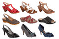 Ladies shoe collection Royalty Free Stock Photo