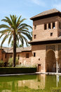Ladies Tower at the Alhambra in Granada Royalty Free Stock Photo