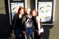 The ladies of trailer park boys sarah dunsworth lucy decoutere and jeanna harrison before premiere their new movie dont Stock Image