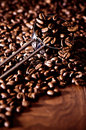 Ladle Of Coffee Beans Stock Image