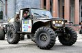 Ladoga trophy saint petersburg russia may vansovics edvins juris s off road vehicle jeep cj no competes at the annual challenge on Stock Photo