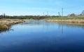 Ladozhka river elena river at the staraya ladoga city russia Royalty Free Stock Images