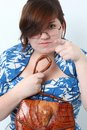 Lady with the Alligator Purse Stock Photography