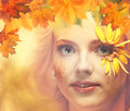 Lady Autumn. Royalty Free Stock Photo
