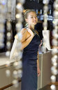 Lady in the boutique Royalty Free Stock Photo