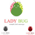 Lady bug Logo Royalty Free Stock Images