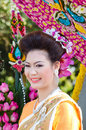Lady in Chiangmai Flower Festival 36th. Stock Images