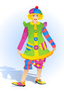 Lady clown Royalty Free Stock Images
