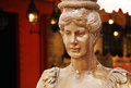 Lady column golden shaped like a camden market london uk Stock Images
