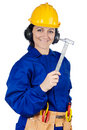 Lady construction worker Stock Photos