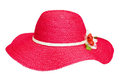 Lady fashion red hat Royalty Free Stock Photo