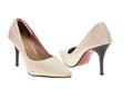 Lady fashion shoe isolated on white background Royalty Free Stock Photos