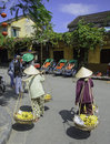 Lady fruit sellers hoi vietnam Stock Image