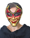Lady with a funny mask Stock Photography