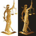 Lady justice Gold Royalty Free Stock Photo