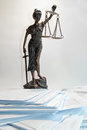 Lady justice temida themis the sculpture statue of on white background Royalty Free Stock Image
