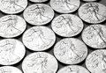 Lady Liberty Silver Coins Royalty Free Stock Photo