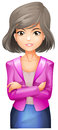 A lady with a pink blazer illustration of on white background Royalty Free Stock Photography