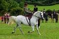 Lady riding side saddle a at the north lonsdale agricultural show Stock Photos