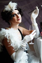 Lady from roaring 20s Royalty Free Stock Photo