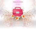 Lady's bag background Royalty Free Stock Photo