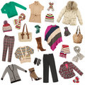 Lady's clothes. Winter warm clothes Stock Images