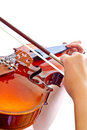 Lady's hand playing violin Stock Image