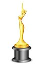 Lady Statue Trophy Stock Photography