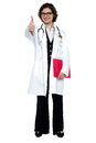 Lady surgeon gesturing thumbs up Royalty Free Stock Images