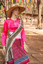 Lady thai traditional dresses this is this place is in east of thailand Royalty Free Stock Photos