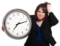 Lady Working Long Hours Royalty Free Stock Photo