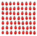Ladybird pattern Royalty Free Stock Photos