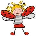 Ladybug, carnival mask Royalty Free Stock Photo