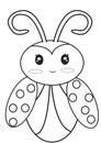 Ladybug coloring page