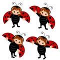 Ladybug costume cartoon