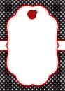 Ladybug invitation template Royalty Free Stock Photo