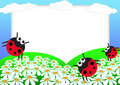 Ladybug scrapbook Royalty Free Stock Photo