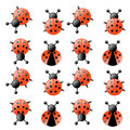 Ladybug seamless pattern Stock Images