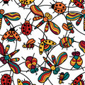 Ladybugs_color Royalty Free Stock Photo