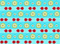 Ladybugs Stripe Seamless Repeat Pattern Stock Image